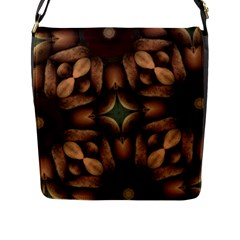 Pattern Moroccan Print Geometric Flap Closure Messenger Bag (l) by Simbadda