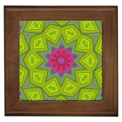 Green Pink Abstract Art Abstract Background Framed Tiles