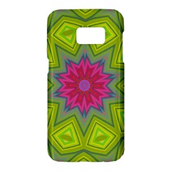 Green Pink Abstract Art Abstract Background Samsung Galaxy S7 Hardshell Case