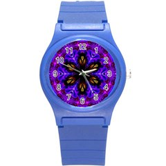 Abstract Art Abstract Background Round Plastic Sport Watch (s)