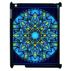 Mandala Blue Abstract Circle Apple Ipad 2 Case (black) by Simbadda