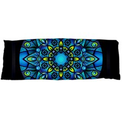 Mandala Blue Abstract Circle Body Pillow Case (dakimakura) by Simbadda