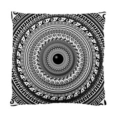Graphic Design Round Geometric Standard Cushion Case (two Sides) by Simbadda
