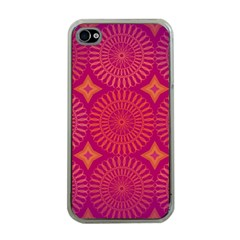 Flower Wheel Chakra Mandala Modern Apple Iphone 4 Case (clear)