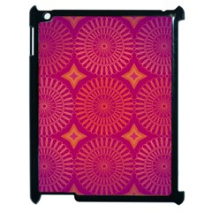 Flower Wheel Chakra Mandala Modern Apple Ipad 2 Case (black)