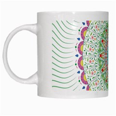 Flower Abstract Floral White Mugs