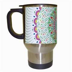 Flower Abstract Floral Travel Mugs (white) by Simbadda