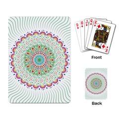 Flower Abstract Floral Playing Cards Single Design by Simbadda