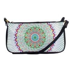 Flower Abstract Floral Shoulder Clutch Bag by Simbadda