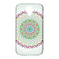 Flower Abstract Floral Samsung Galaxy S4 Classic Hardshell Case (pc+silicone)