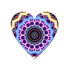 Mandala Art Design Pattern Heart Magnet by Simbadda