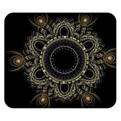 Fractal Mandala Intricate Double Sided Flano Blanket (small)