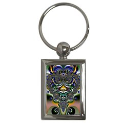Fractal Art Artwork Design Pattern Key Chains (rectangle)