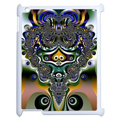 Fractal Art Artwork Design Pattern Apple Ipad 2 Case (white) by Simbadda