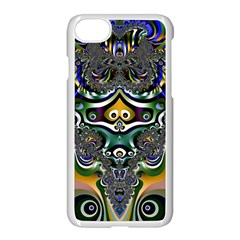 Fractal Art Artwork Design Pattern Apple Iphone 8 Seamless Case (white) by Simbadda