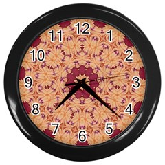 Abstract Art Abstract Background Pattern Wall Clock (black) by Simbadda