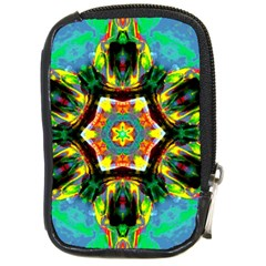 Chakra Art Heart Healing Blue Compact Camera Leather Case by Simbadda