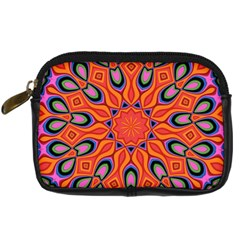 Abstract Art Abstract Background Digital Camera Leather Case by Simbadda