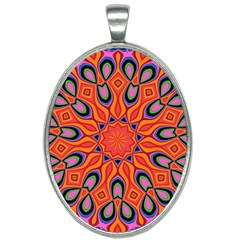 Abstract Art Abstract Background Oval Necklace