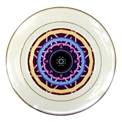 Mandala Art Design Pattern Porcelain Plates by Simbadda