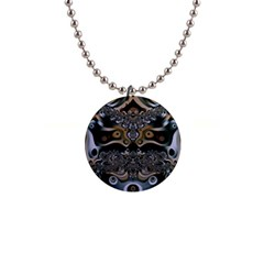 Fractal Art Artwork Design 1  Button Necklace