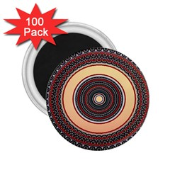 Ornamental Shape Concentric Round 2 25  Magnets (100 Pack)  by Simbadda