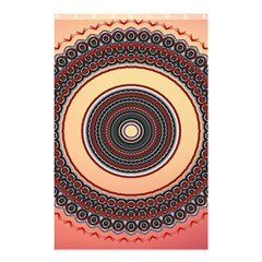 Ornamental Shape Concentric Round Shower Curtain 48  X 72  (small)  by Simbadda