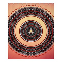Ornamental Shape Concentric Round Shower Curtain 60  X 72  (medium)  by Simbadda