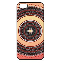 Ornamental Shape Concentric Round Apple Iphone 5 Seamless Case (black)
