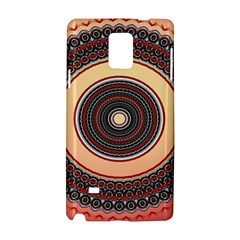 Ornamental Shape Concentric Round Samsung Galaxy Note 4 Hardshell Case