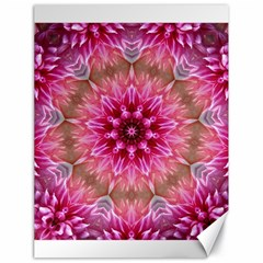 Flower Mandala Art Pink Abstract Canvas 18  X 24  by Simbadda