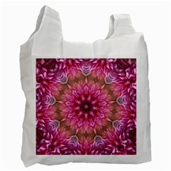 Flower Mandala Art Pink Abstract Recycle Bag (one Side)