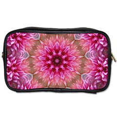 Flower Mandala Art Pink Abstract Toiletries Bag (one Side) by Simbadda