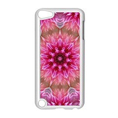 Flower Mandala Art Pink Abstract Apple Ipod Touch 5 Case (white) by Simbadda