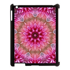 Flower Mandala Art Pink Abstract Apple Ipad 3/4 Case (black) by Simbadda