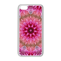 Flower Mandala Art Pink Abstract Apple Iphone 5c Seamless Case (white) by Simbadda