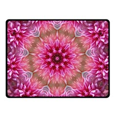 Flower Mandala Art Pink Abstract Double Sided Fleece Blanket (small)