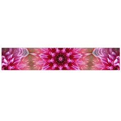 Flower Mandala Art Pink Abstract Large Flano Scarf  by Simbadda