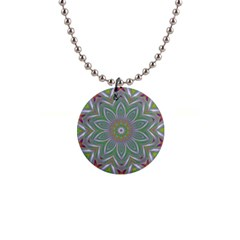 Abstract Art Colorful Texture 1  Button Necklace