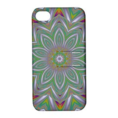 Abstract Art Colorful Texture Apple Iphone 4/4s Hardshell Case With Stand by Simbadda