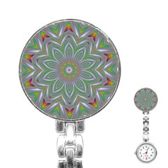 Abstract Art Colorful Texture Stainless Steel Nurses Watch