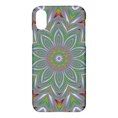 Abstract Art Colorful Texture Apple Iphone X Hardshell Case by Simbadda