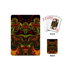 Fractal Art Artwork Design Playing Cards (mini)
