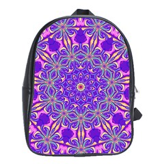 Abstract Art Abstract Background School Bag (large)