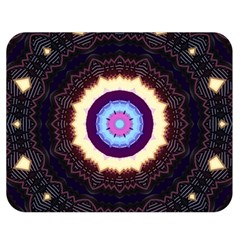 Mandala Art Design Pattern Double Sided Flano Blanket (medium)  by Simbadda