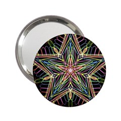 Star Mandala Pattern Design Doodle 2 25  Handbag Mirrors by Simbadda