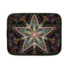 Star Mandala Pattern Design Doodle Netbook Case (small)