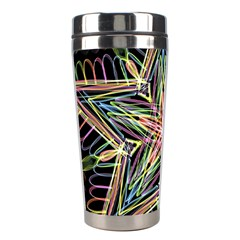 Star Mandala Pattern Design Doodle Stainless Steel Travel Tumblers by Simbadda