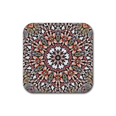 Abstract Art Texture Mandala Rubber Coaster (square)