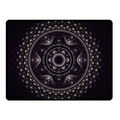 Fractal Mandala Circles Purple Double Sided Fleece Blanket (small)
